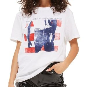 TOPSHOP Bruce Springsteen Born in USA Graphic Tee